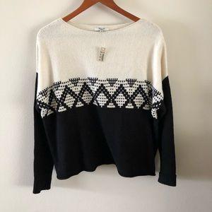 MADEWELL | Contrast Fair Isle Sweater